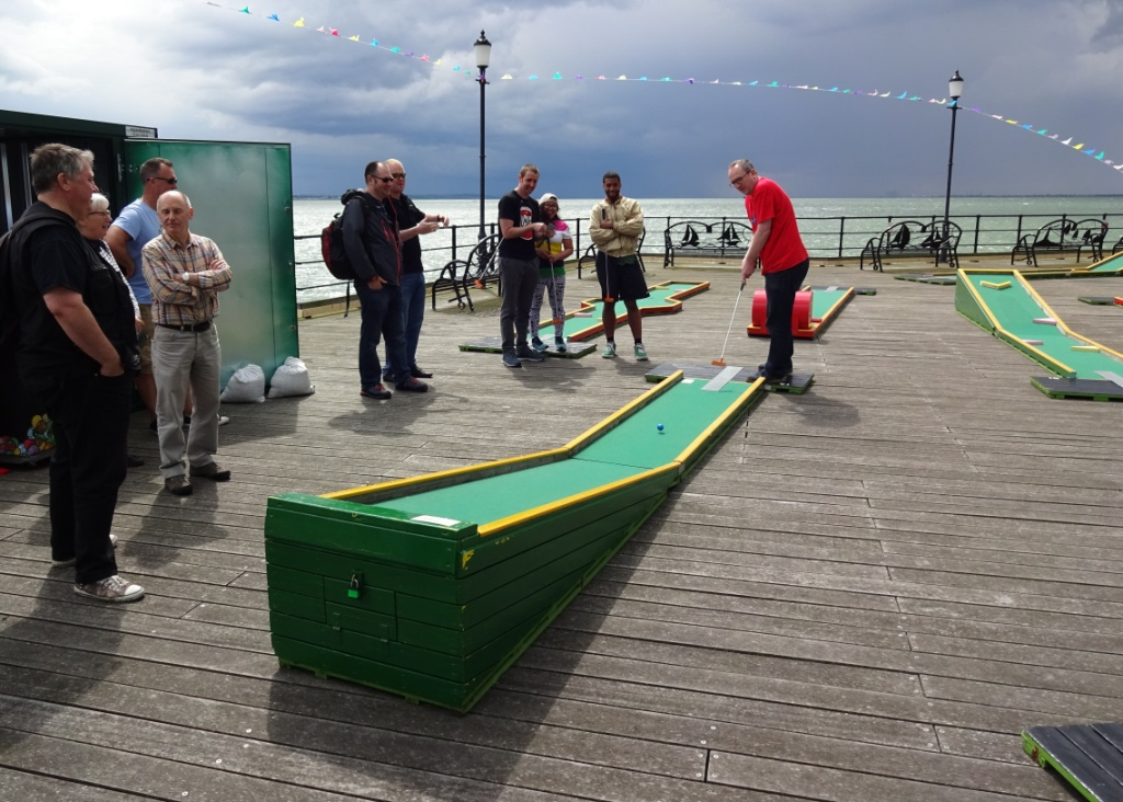 the ham and egger files playing crazy golf on southend pier. Black Bedroom Furniture Sets. Home Design Ideas