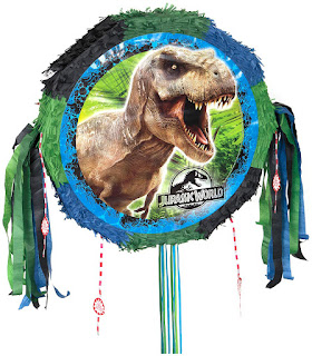 Adult Jurassic World Drum Pull-String Pinata - Multi-colored