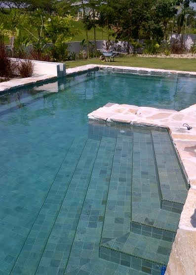 Project Green Stone Sukabumi Green Swimming Pool Tiles