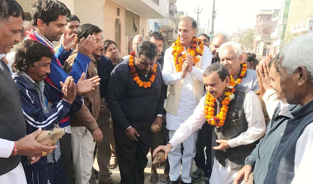 Nagendra Bhadana inaugurated new lines of water