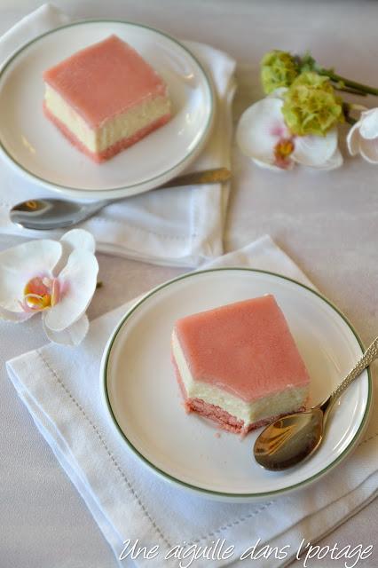 Lycheesecake au tofu soyeux et biscuits roses de Reims