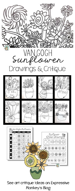How can an art critique activity help students add more detail in their drawings?  I'll show you how I use the work of Vincent van Gogh in an art critique and also show you some fabulous sunflower drawings by kids.