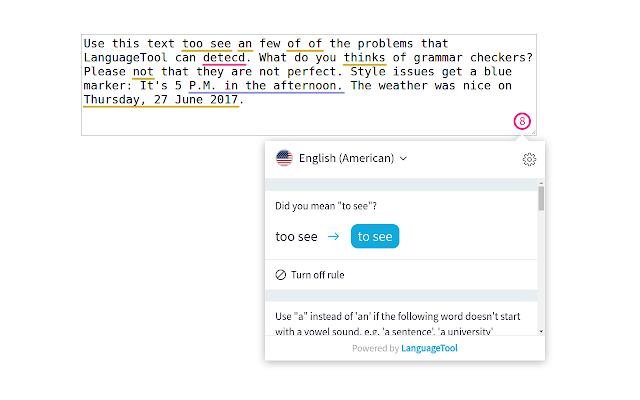 تحميل برنامج تصحيح قواعد اللغة الانجليزية LanguageTool for Chrome
