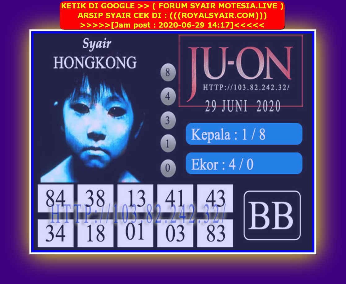 Kode syair Hongkong Senin 29 Juni 2020 156