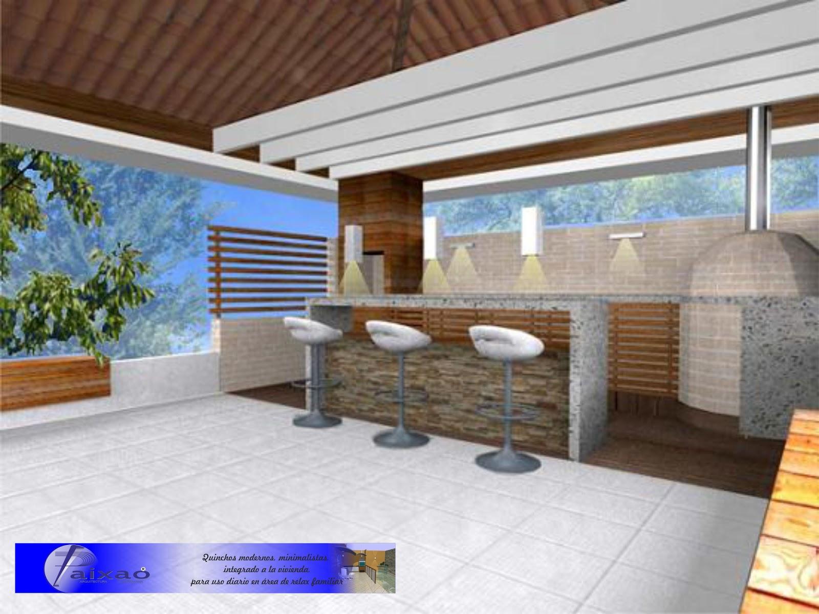 Ara construcciones en general quinchos minimalistas for Fotos de piletas en casas