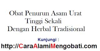 Cara alami mengobati asam urat tinggi sekali dengan herbal tradisional