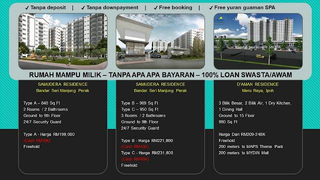 Senarai Rumah Apartment Mampu Milik di Negeri Perak
