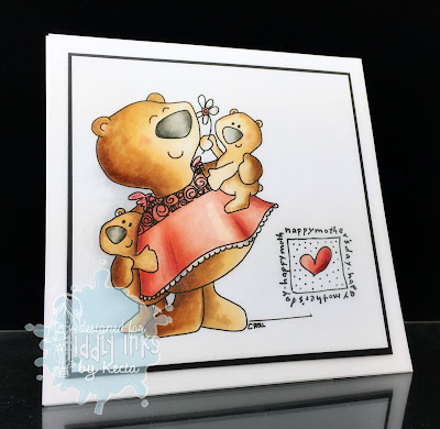 Tiddly Inks, Kecia Waters, Copic markers, bears, Mother's Day