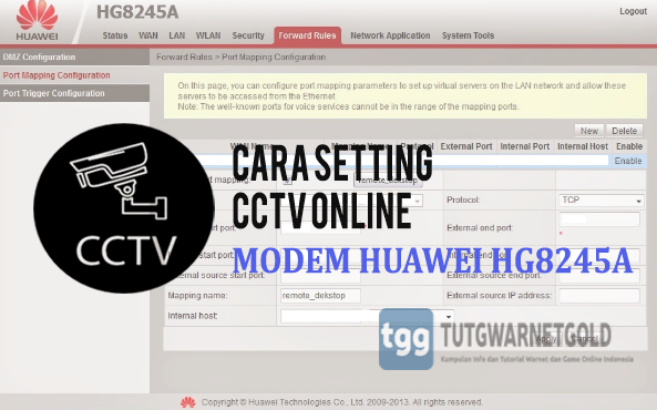 Cara Mudah Setting CCTV Modem Huawei HG8245A