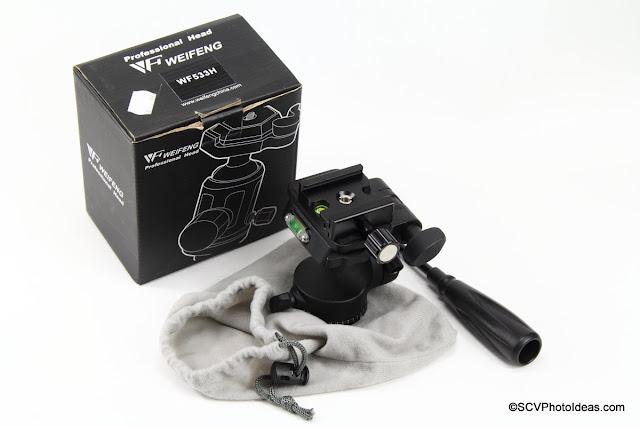 Weifeng WF-533H Pan-Tilt Head box and contents
