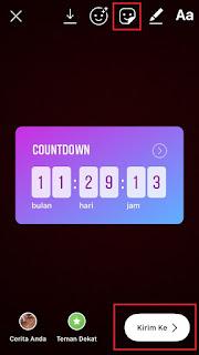 Cara Memuat Stiker Countdown di Instagram Story Biar Kekinian