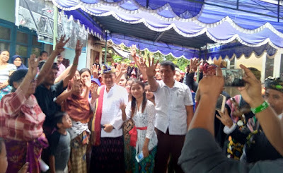 Cawagub TGH. L. Gede Sakti Disambut Ratusan Pendukung di Kuripan