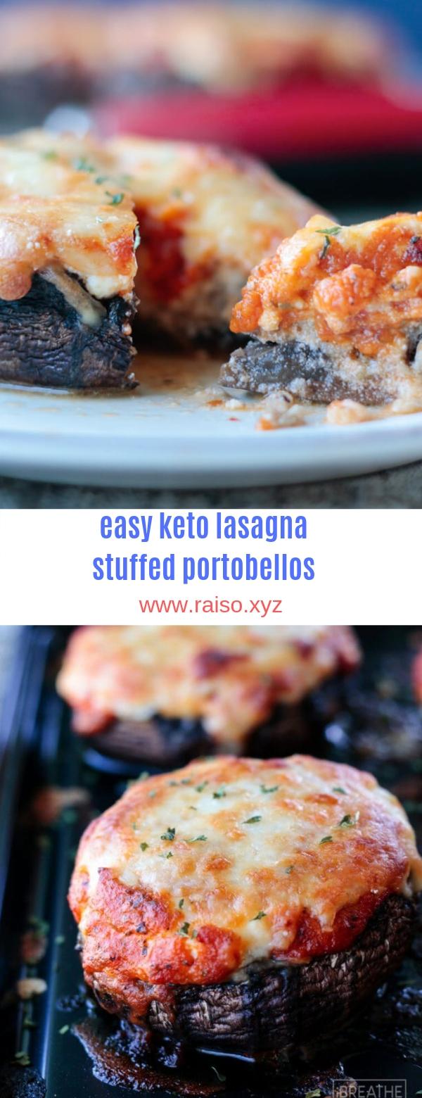 Easy Keto Lasagna Stuffed Portobellos – Low Carb