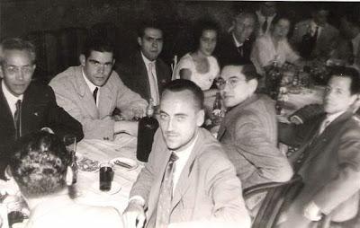 1951 - Visita del equipo lisboeta al local social del Club Ajedrez Ruy López Tívoli - Todos mezclados