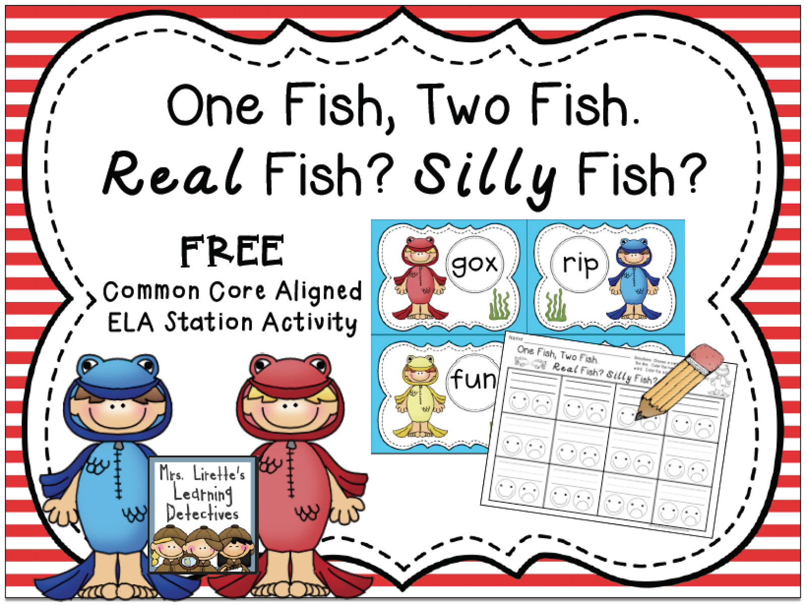 https://www.teacherspayteachers.com/Product/One-Fish-Two-Fish-Real-Fish-Silly-Fish-FREE-1730446