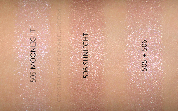 L'Oreal True Match Lumi Shimmerista Powder Highlighter 506 505 Swatches