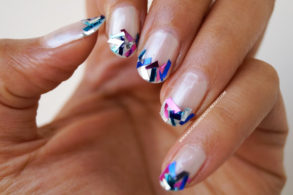 Tinsel Nails For New Years Tutorial Moonshine And Sunlight