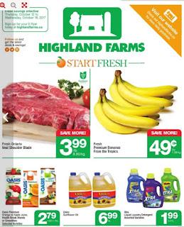 Highland Farms Flyer September 12 – October 18, 2017