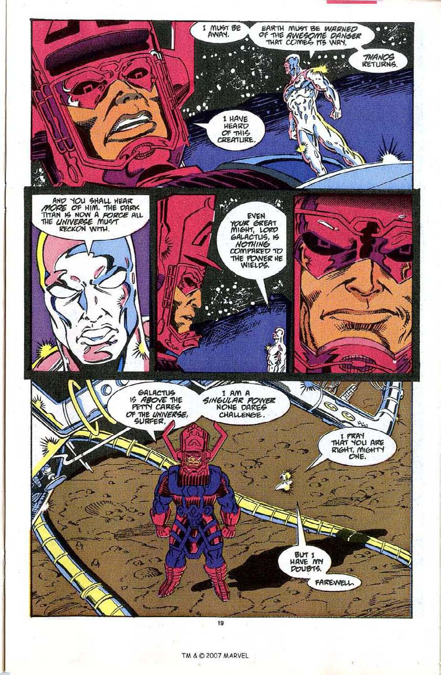 Read online Silver Surfer (1987) comic -  Issue #48 - 21