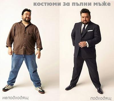 костюми за пълни мъже