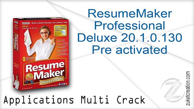 Resumemaker Professional Deluxe 20 1 0 130 Preactivated