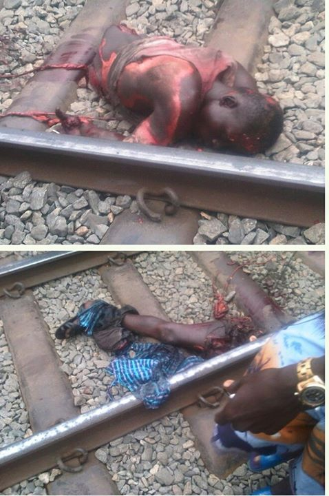TEARS AND BLOOD FLOW LIKE RIVER AS TRAIN CRUSHED AND INJURED TRADERS AT ENUGU MARKET (PHOTOS AND DETAILS)