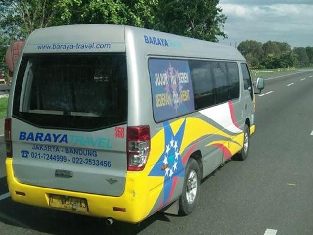 Jadwal Baraya Travel Rute Tangerang - Bandung