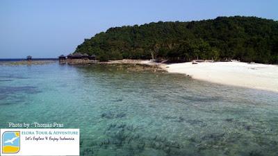 panorama pulau pahawang kecil