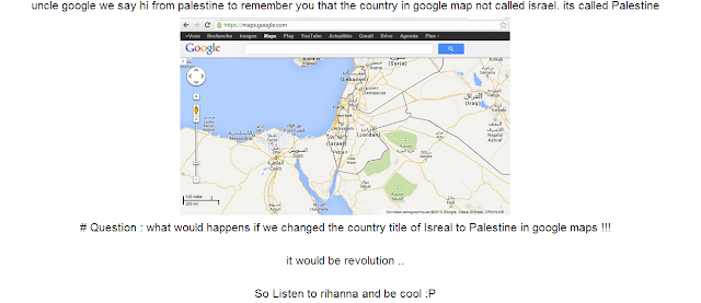 Google Search Palestine hacked by anti Israeli activists Hackteach Lovers signed by Cold z3ro - Haml3t - Sas - Dr@g