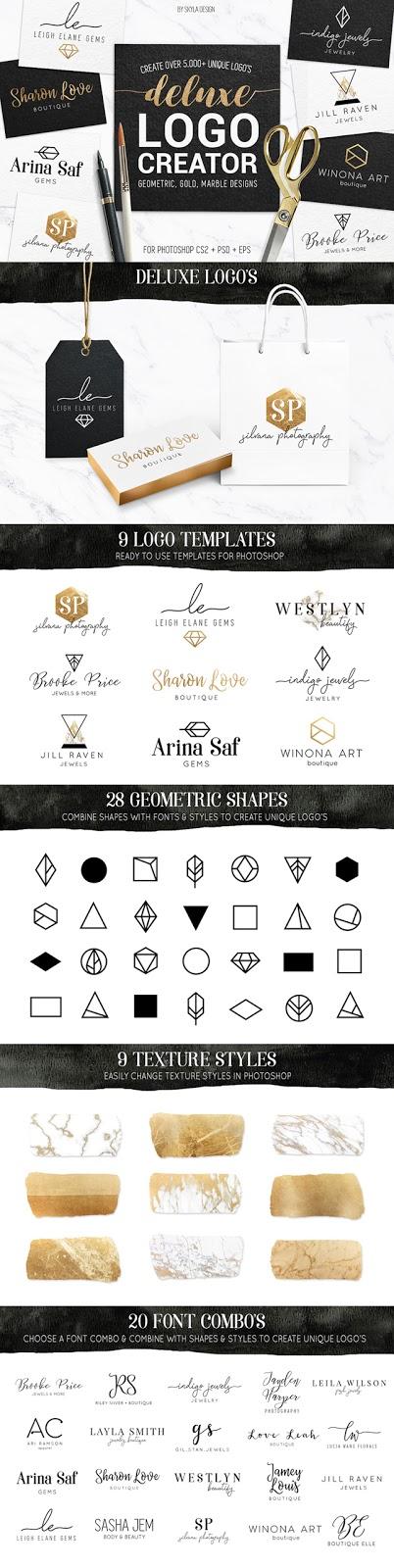 Deluxe gold logo creator kit
