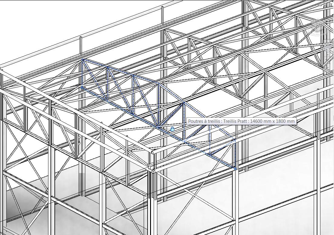 revit m mo revit 2014 structure charpente m tallique ferme param trique poutre treillis. Black Bedroom Furniture Sets. Home Design Ideas