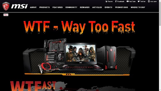 WTFast and MSi Promotion