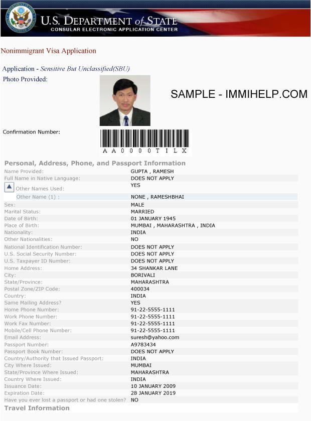 sample-ds-160-form-us-visa-application-1 Online Application Form Ds on b2 sample, h4 sample, us visa application, passport application printable, sample filled, social media, family column, sample pdf blank, pdf printable,