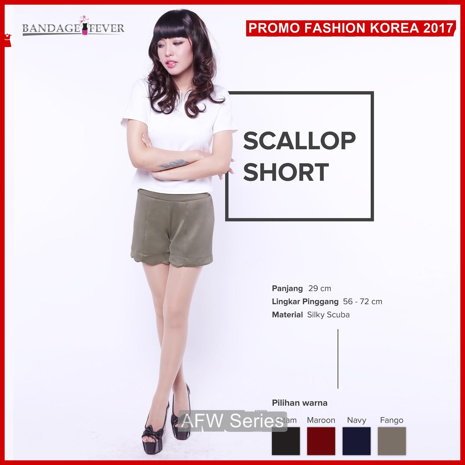 BAMFGW129 Scallop Hot Pants Wanita PROMO BMG