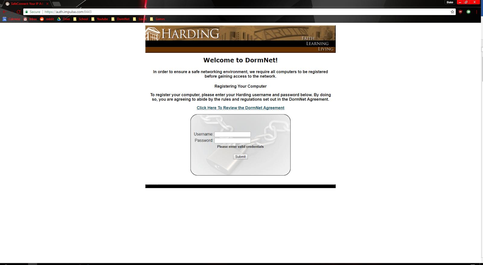 Harding University Calendar.Setting Up Hu Student On Windows 10 Harding University Dormnet
