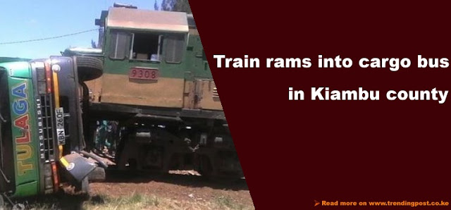Train - Bus accident in Ruiru railway crossing