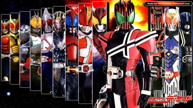 Dalam serial Kamen Rider ini ada 3 Rider yang yaitu Kamen Rider Decade rider utama, sekondari rider Kamen Rider Kuuga, dan kamen rider Diend.