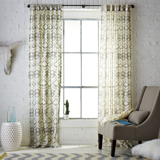 Dining Room Window: Drapery Panels For A Gray Dining Room