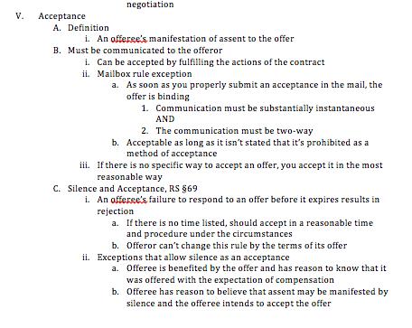 step four to making a law school outline | brazenandbrunette.com