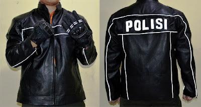Gambar Jaket Kulit Polisi berbahan domba asli