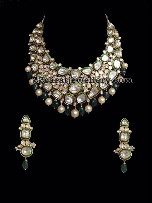 Kundan Jadau Necklace with Earrings