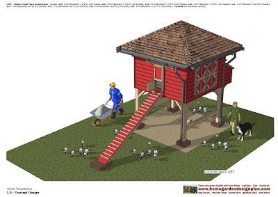 Home Garden Plans L301 Chicken Coop Plans Construction