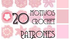 20 motivos de flores y círculos crochet / patrones