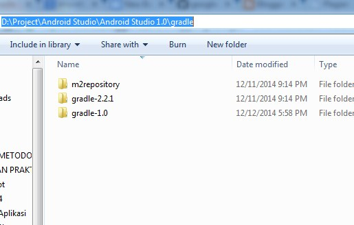 Cara Melihat Lokasi  Folder  Instalasi Gradle  di Android Studio