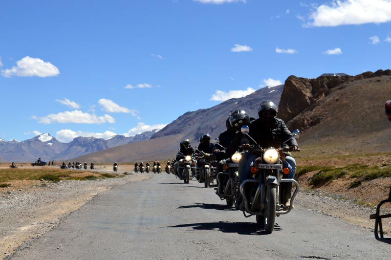 Bikers from Team Cruise along with Mohan in Leh-Ladakh