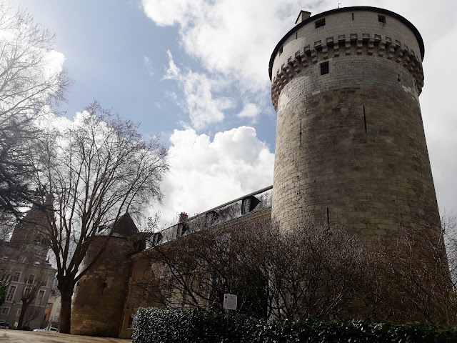 A view of the north tower of Chateau de Tours