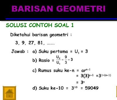 Barisan Geometri dan Contoh - Contoh Soal Penyeleseiannya - berbagaireviews.com