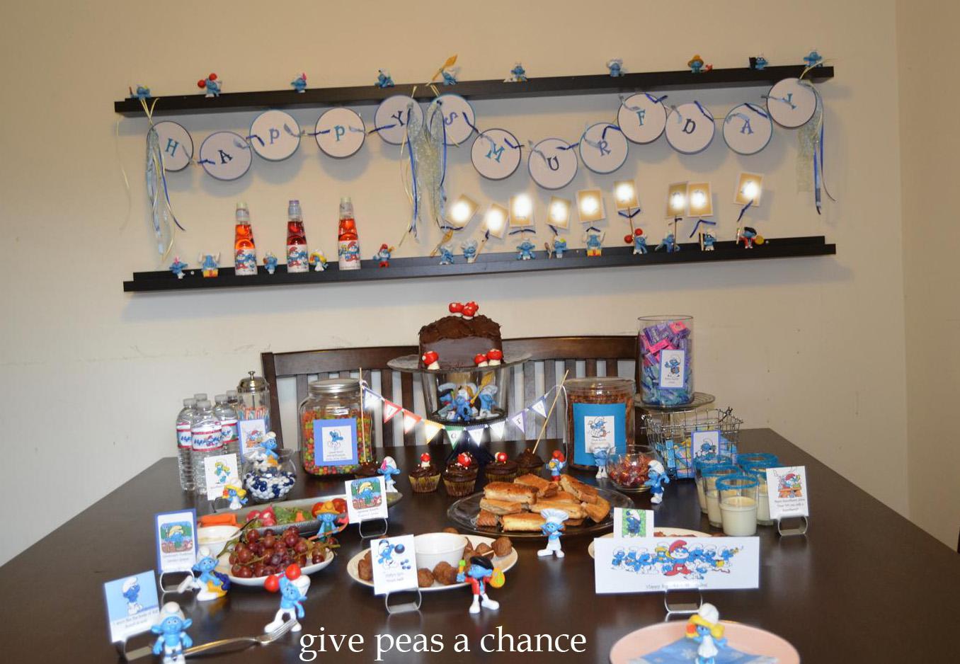 Smurf Birthday Party Food Ideas