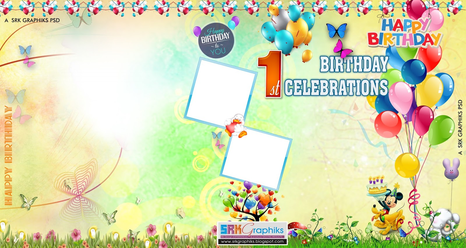 Birthday Banner Design  Happy Birthday Card Template Free Download