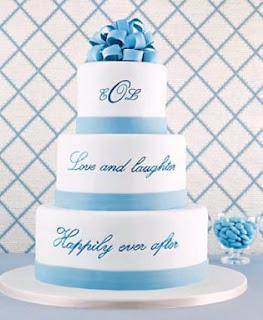 tulisan di kue pengantin